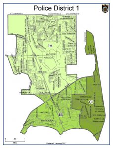 Police District 1 Map