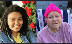 Image of young black woman next to senior white woman.
