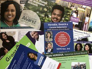 Image of Natomas school board race mailers.