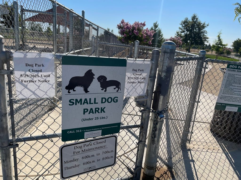 Dog Park Closed 5/29/2021-until further notice Small dog park (under 25 lbs)
